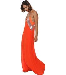 vestido naranja design plus cantilla