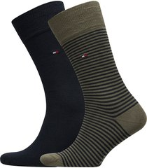 th men small stripe sock 2p underwear socks regular socks multi/mönstrad tommy hilfiger