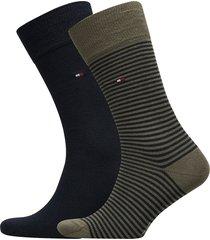 th men small stripe sock 2p underwear socks regular socks multi/mönstrad tommy hilfiger