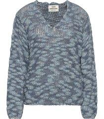 fantasy wool krizzy stickad tröja blå mads nørgaard