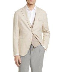 men's eleventy trim fit tonal plaid sport coat