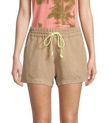 lizzie side stripe silk shorts