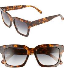 women's diff austen 55mm square sunglasses - crystal olive/ grey