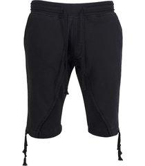 50-50 fleece shorts, black