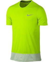 camiseta nike breathe rapid top ss para hombre - verde limón