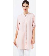 koszula z ozdobnymi paskami różowa