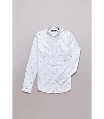 camisa reserva enxuto fraktur masculina