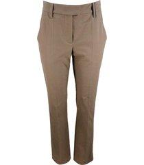 brunello cucinelli cigarette trousers in cotton
