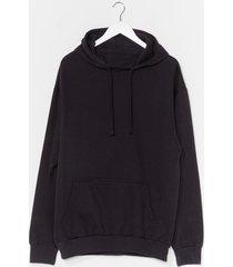 womens plus hoodie - black