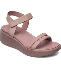 flowt wedge lx w shoes summer shoes flat sandals rosa ecco