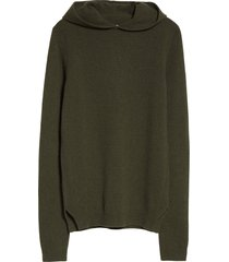 men's rick owens men's cashmere & wool sweater hoodie, size small - green