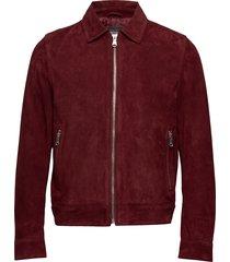 logner jacket läderjacka skinnjacka röd oscar jacobson