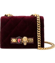 alexander mcqueen knuckle duster crossbody bag - red