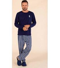 pijama manga longa malha masculino 141098 mensageiro dos sonhos