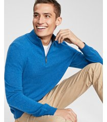 club room men's cashmere quarter-zip sweater, created for macy's