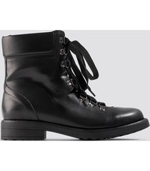 na-kd shoes low combat boots - black
