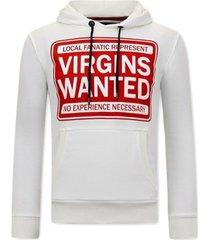 sweater local fanatic hoodie print virgins wanted