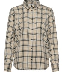 cim lalou ls shirt långärmad skjorta beige moss copenhagen