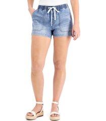inc drawstring-waist denim shorts, created for macy's