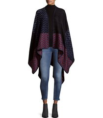 chevron knitted cape