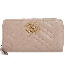 women's gucci gg 2.0 matelasse leather zip around wallet -