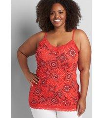 lane bryant women's lane essentials lace-trim cami 34/36 ashley bandana