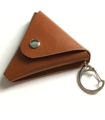 fidget hand spinner triangle leather bag box case special design keychain style