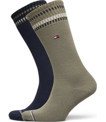 th men sock 2p new pete underwear socks regular socks grön tommy hilfiger