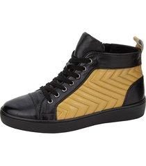 high sneaker gerry weber svart::gul