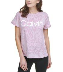 calvin klein performance women's printed top