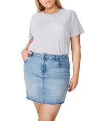 cotton on curve denim skirt