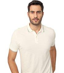 camisa polo forum reta frisos off-white