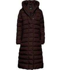 stella wns coat 2 gevoerde lange jas bruin didriksons