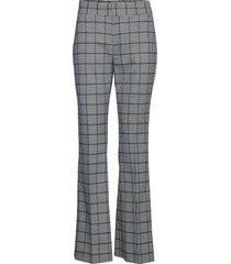 high-rise flare plaid pant broek met wijde pijpen multi/patroon banana republic