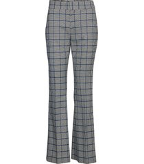 high-rise flare plaid pant wijde broek multi/patroon banana republic