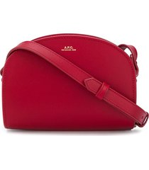 a.p.c. round-top crossbody bag - red