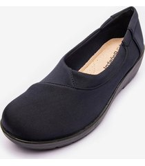mocasin asagao black chancleta