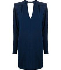 dorothee schumacher soft essence midi dress - blue