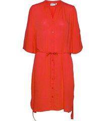 dobby shirt dress dresses everyday dresses röd coster copenhagen