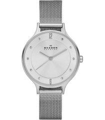 skagen women's anita stainless steel mesh bracelet watch 30mm skw2149