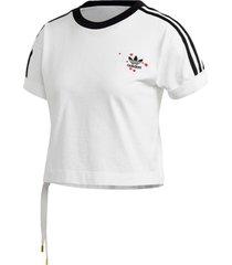 camiseta adidas originals branco - branco - feminino - dafiti