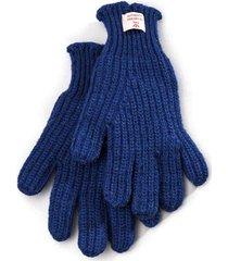 nigel cabourn ribbed goalie gloves | royal blue | ncglv-blu