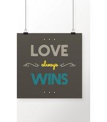 poster love always wins
