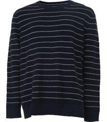 suéter tricot banana republic preppy navy azul-marinho/cinza - kanui