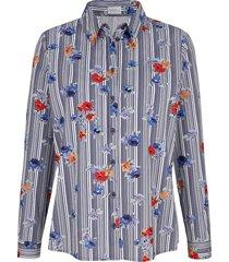 blouse mona blauw::wit::rood