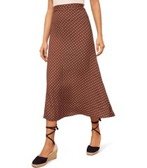 women's reformation bea midi skirt, size 6 - brown