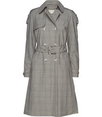 y.d glen plaid trench trenchcoat lange jas grijs michael kors