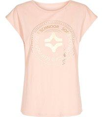 katoenen t-shirt met opdruk nicoline  roze