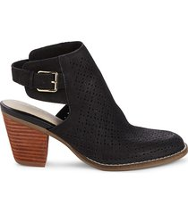 cole haan women's pippa open back leather booties - black - size 7