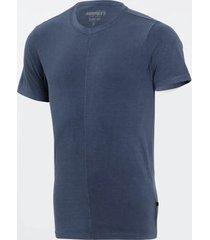 camiseta burnett azul masculina